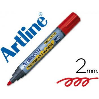Rotulador artline pizarra ek-517 rojo -punta redonda 2 mm -tinta de bajo olor