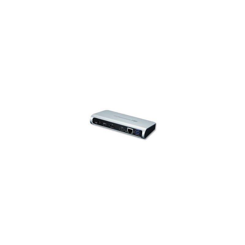 Toshiba DUD16A0E base para portátil y replicador de puertos Alámbrico USB 3.0 (3.1 Gen 1) Type-C Negro, Plata