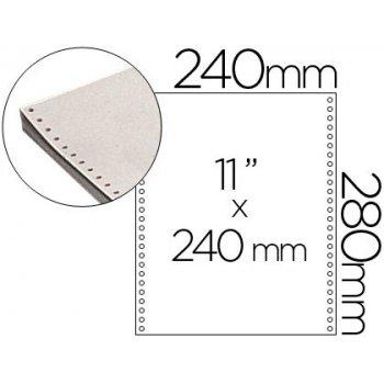 Papel continuo 240x11 blanco -caja de 2500 hojas