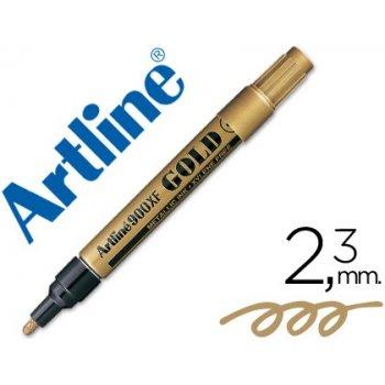 Rotulador artline marcador permanente tinta metalica ek-900 oro -punta redonda 2.3 mm