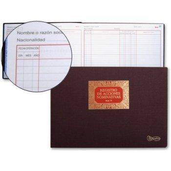 Libro miquelrius n.75 folio apaisado 100 hojas -registro de acciones -nominativas