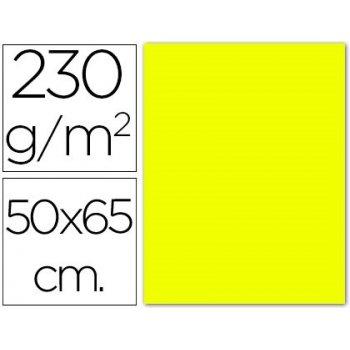 Cartulina fluorescente amarilla 50x65 cm