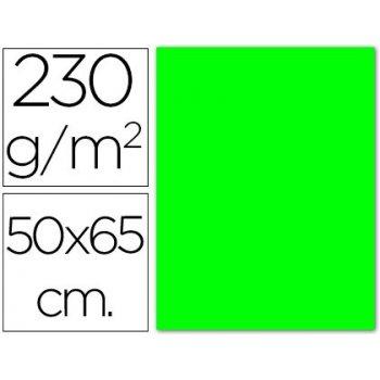 Cartulina fluorescente verde 50x65 cm