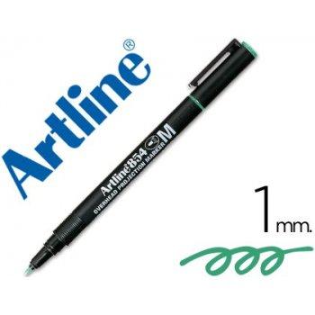 Rotulador artline retroproyeccion punta fibra permanente ek-854 verde -punta redonda 1 mm