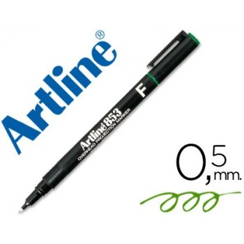 Rotulador artline retroproyeccion punta fibra permanente ek-853 verde -punta redonda 0.5 mm