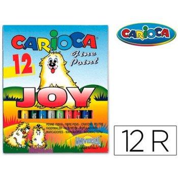 Rotulador carioca joy caja de 12 colores