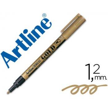 Rotulador artline marcador permanente punta metalica ek-990 oro -punta redonda 1.2 mm