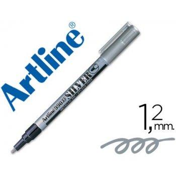 Rotulador artline marcador permanente tinta metalica ek-990 plata -punta redonda 1.2 mm
