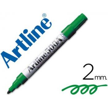 Rotulador artline pizarra ek-500 verde punta redonda 2 mm recargable