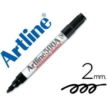 Rotulador artline pizarra ek-500 negro punta redonda 2 mm recargable