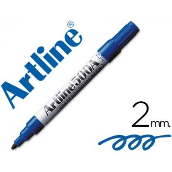 Rotulador artline pizarra ek-500 azul punta redonda 2 mm recargable