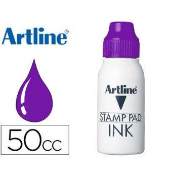 Tinta tampon artline violeta -frasco de 50 cc
