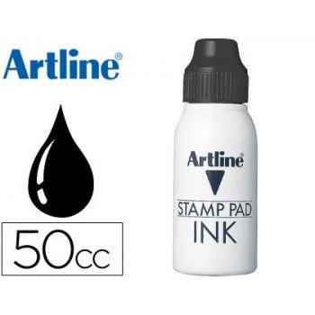 Tinta tampon artline negra -frasco de 50 cc
