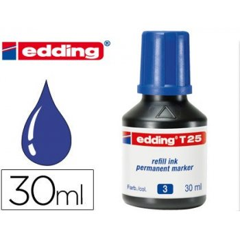 Tinta rotulador edding t-25 azul -frasco de 30 ml