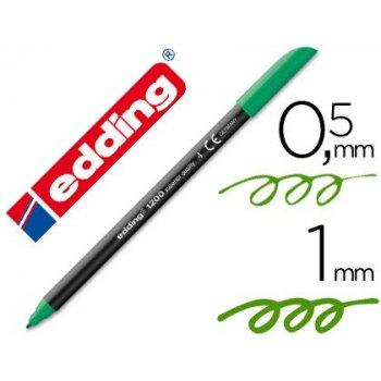 Rotulador edding punta fibra 1200 verde n.4 -punta redonda 0.5 mm