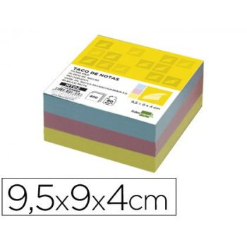 Recambio liderpapel multitaco colores tamaño 95x90x40 mm