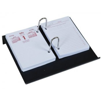 Portacalendario plastico q-connect negro