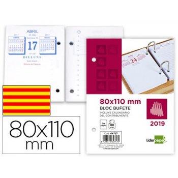 Bloc bufete liderpapel 80x110mm 2019 papel 80 gr texto en catalan
