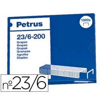 Grapas petrus nº 23 6 -caja de 1000