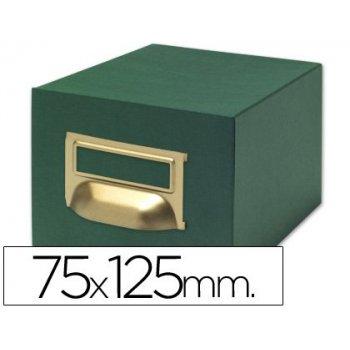 Fichero fichas tela verde 500 fichas n.2 -tamaño 75x125 mm