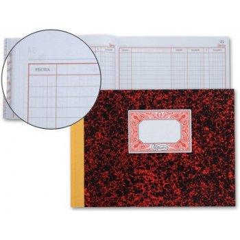 Libro miquelrius cartone 3086 cuarto apaisado 100 hojas cuentas corrientes -debe haber y saldo