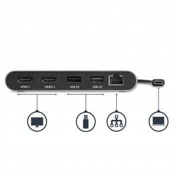 StarTech.com Mini Dock Thunderbolt 3 para Doble Pantalla de 4K con HDMI