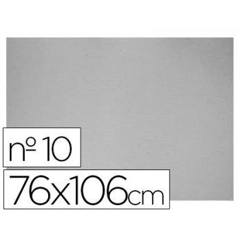 Carton gris nº 10 76x106 cm -hojas