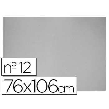 Carton gris nº 12 76x106 cm -hoja