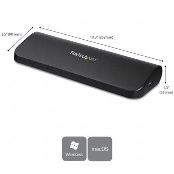 StarTech.com Docking Station USB 3.0 para Dos Monitores con HDMI y DVI VGA