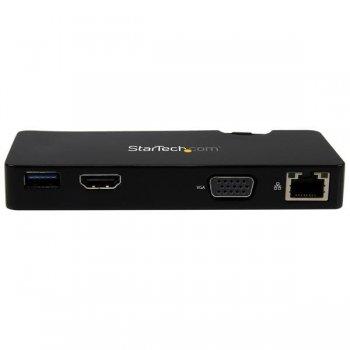 StarTech.com Replicador de Puertos USB 3.0 de Viajes con HDMI o VGA - Docking Station para Portátil