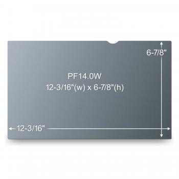 """3M AG140W9B Filtro de privacidad para pantallas sin marco 35,6 cm (14"""")"""