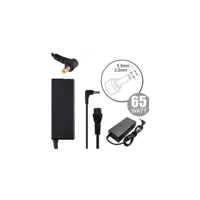 Nilox NLX65W-LT09 adaptador e inversor de corriente Interior 65 W Negro