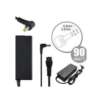 Nilox NLX90W-AR11 adaptador e inversor de corriente Interior 90 W Negro