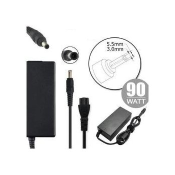 Nilox NLX90W-SG04 adaptador e inversor de corriente Interior 90 W Negro