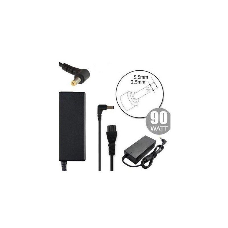 Nilox NLX90W-TA14 adaptador e inversor de corriente Interior 90 W Negro