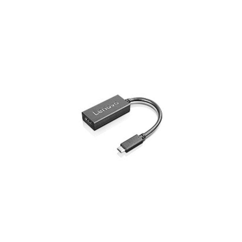 Lenovo 4X90M42956 adaptador de cable USB-C VGA Negro