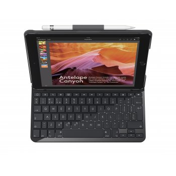 Logitech Slim Folio teclado para móvil QWERTY Español Negro Bluetooth