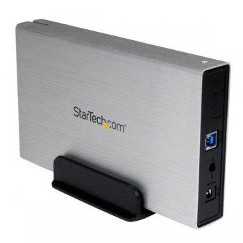StarTech.com Caja Carcasa de Aluminio USB 3.0 de Disco Duro HDD SATA 3 III de 3,5 Pulgadas Externo UASP - Plateado