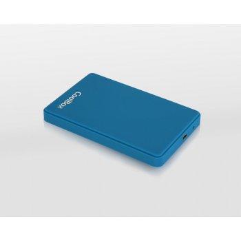 """CoolBox SlimColor 2543 2.5"""" Carcasa de disco duro SSD Azul"""