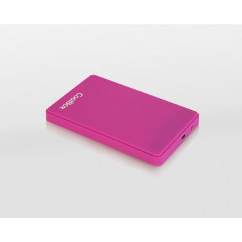 """CoolBox SlimColor 2543 2.5"""" Carcasa de disco duro SSD Púrpura"""