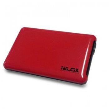"""Nilox DH0002RD caja para disco duro externo 2.5"""" Caja de disco duro (HDD) Rojo"""