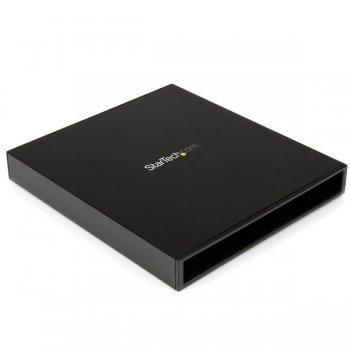 StarTech.com Caja USB 3.0 para Unidad Óptica CD DVD Slim Line 5,25 Pulgadas SATA Externa - Carcasa
