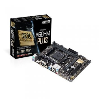 ASUS A68HM-Plus placa base Socket FM2+ Micro ATX AMD A68H