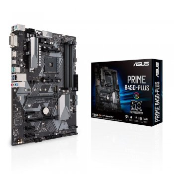ASUS PRIME B450-PLUS placa base Zócalo AM4 ATX AMD B450