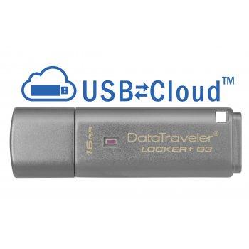 Kingston Technology DataTraveler Locker+ G3 16GB unidad flash USB USB tipo A 3.0 (3.1 Gen 1) Plata