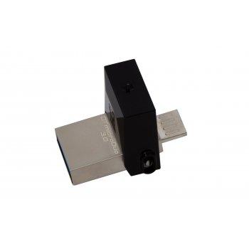 Kingston Technology DataTraveler 32GB microDuo 3.0 unidad flash USB USB Type-A   Micro-USB 3.0 (3.1 Gen 1) Negro