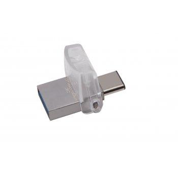 Kingston Technology DataTraveler microDuo 3C 32GB unidad flash USB USB Type-A   USB Type-C 3.0 (3.1 Gen 1) Plata