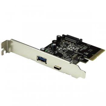 StarTech.com Tarjeta PCI Express de 2 Puertos USB 3.1 - Hub Ladrón Concentrador Interno 1x USB Tipo C y 1x USB A