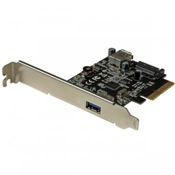 StarTech.com Tarjeta PCI Express de 2 Puertos USB 3.1 Gen 2 USB-A 1x Externo y 1x Interno