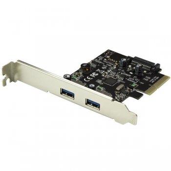 StarTech.com Tarjeta PCI Express de 2 Puertos USB 3.1 - Hub Ladrón Concentrador PCI-E Interno 2x USB A